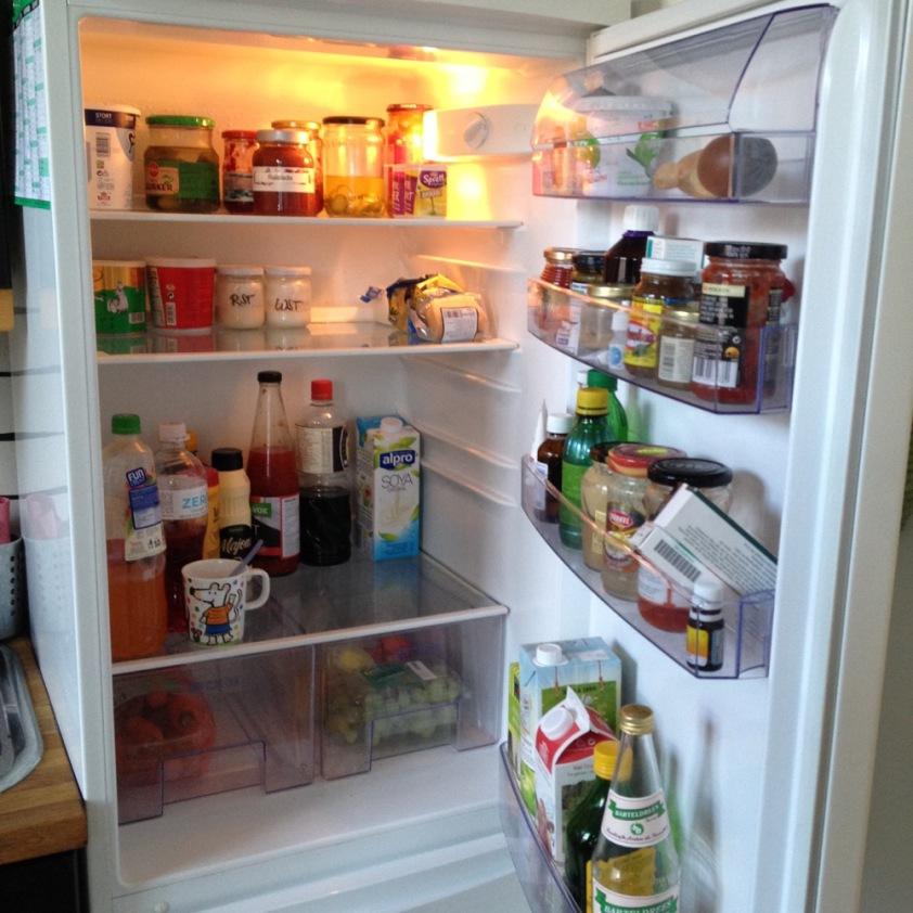 Kühlschrank vor dem Einkauf